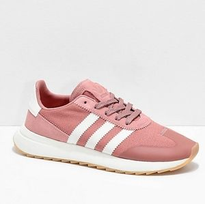 {Adidas}Women's 10 Flashback Raw Pink/White Shoes